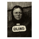Blind Woman, New York  1917 Poster