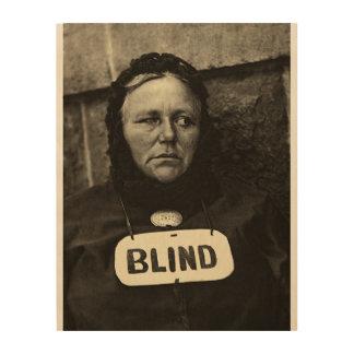 Blind Woman, New York  1917 Wood Print