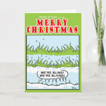 Blinded Grass Holiday Card