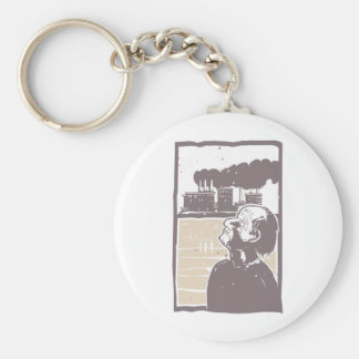 Blinded Man and Factory Keychain