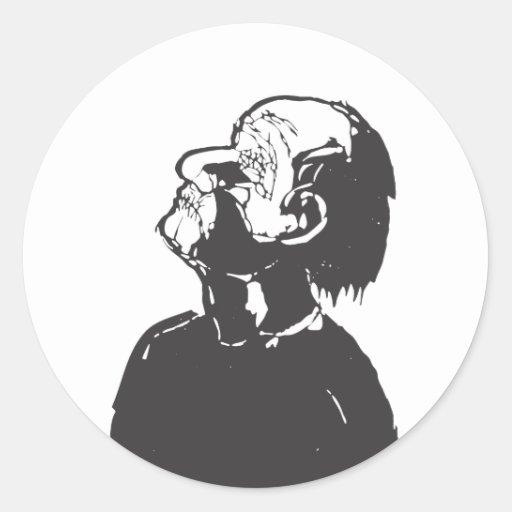 Blinded Man Round Sticker