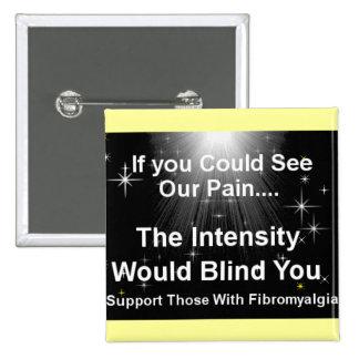 Blinding pain pinback button