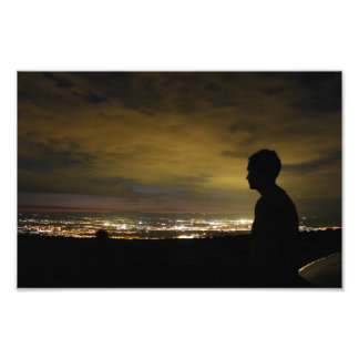 Blinding sleepless light photo print