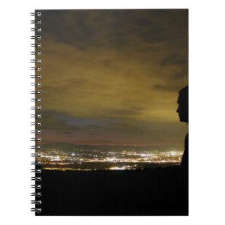 Blinding sleepless light spiral notebook