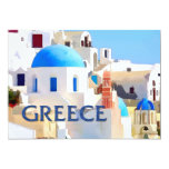 "Blinding White Buildings in Greece 5"" X 7"" Invitation Card"