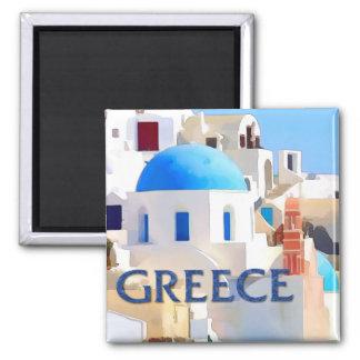 Blinding White Buildings in Greece Refrigerator Magnet