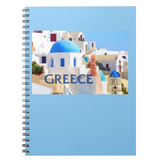 Blinding White Buildings in Greece Notebook