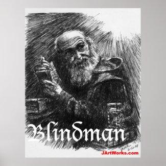 Blindman print