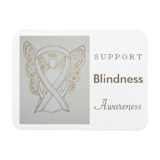 Blindness Awareness Ribbon Angel Custom Magnet