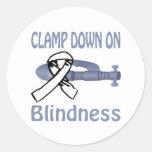 Blindness Round Stickers