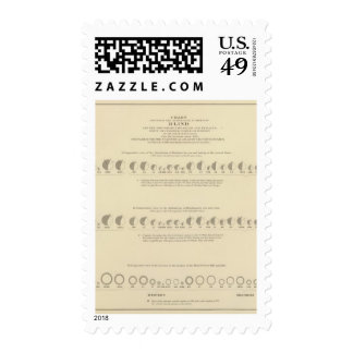 Blindness, Statistical US Lithograph 1870 Postage Stamps