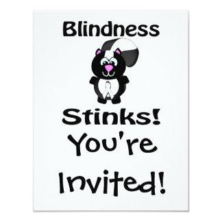 Blindness Stinks Skunk Awareness Design Card