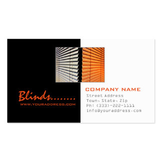 Blinds Store Windows Fashion Black & White Card