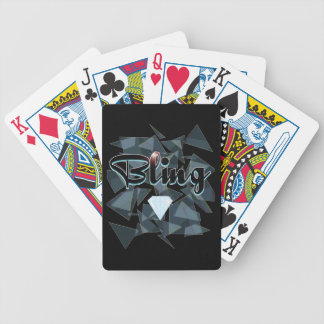 Bling abstract design bicycle poker deck
