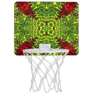 Bling Abstract Pattern Basketball Hoops Mini Basketball Backboard
