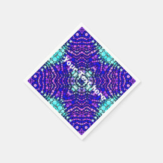 Bling Abstract Pattern Custom  Party Napkin Standard Cocktail Napkin