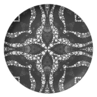 Bling Abstract Pattern Party Plate