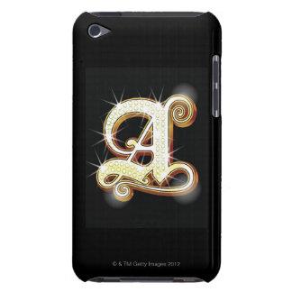 Bling alphabet A iPod Case-Mate Case