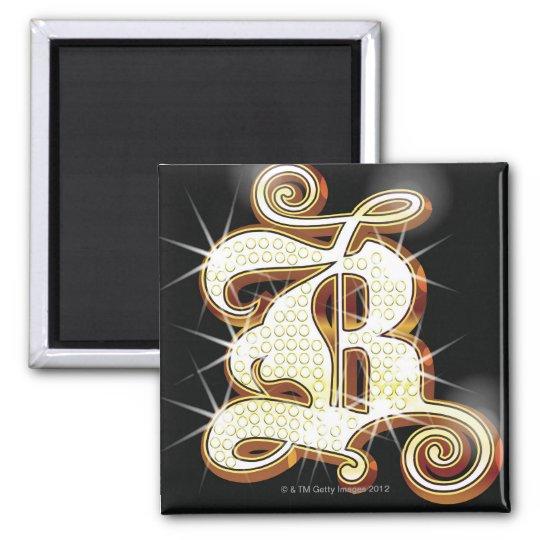 Bling alphabet B Magnet