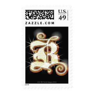 Bling alphabet B Stamp