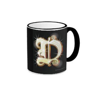 Bling alphabet D Ringer Coffee Mug
