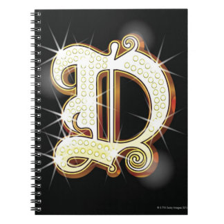 Bling alphabet D Notebooks