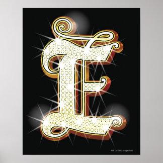 Bling alphabet E Poster