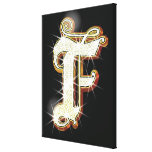 Bling alphabet F Gallery Wrapped Canvas