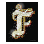 Bling alphabet F Posters