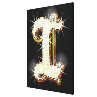 Bling alphabet I Canvas Print