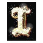 Bling alphabet I Post Card