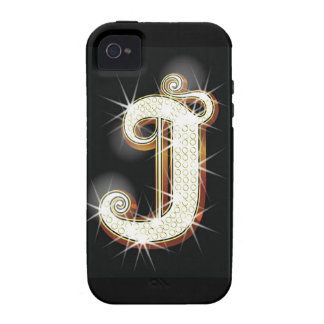 Bling alphabet J iPhone 4/4S Cover