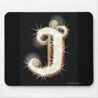 Bling alphabet J Mouse Pads