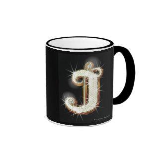 Bling alphabet J Ringer Mug