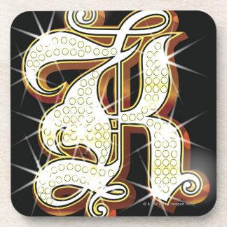 Bling alphabet K Beverage Coasters