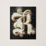 Bling alphabet K Puzzle