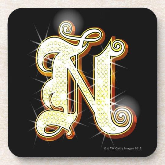 Bling alphabet N Beverage Coaster