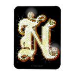 Bling alphabet N Flexible Magnet
