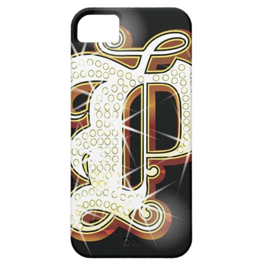 Bling alphabet P iPhone SE/5/5s Case