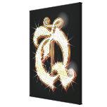Bling alphabet Q Canvas Print
