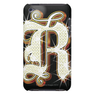 Bling alphabet R Barely There iPod Case