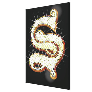Bling alphabet S Canvas Print