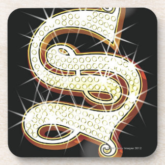 Bling alphabet S Beverage Coaster