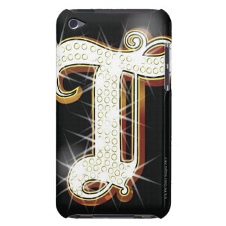 Bling alphabet T Barely There iPod Case