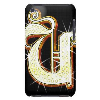 Bling alphabet U iPod Touch Case