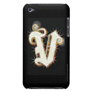 Bling alphabet V iPod Case-Mate Case