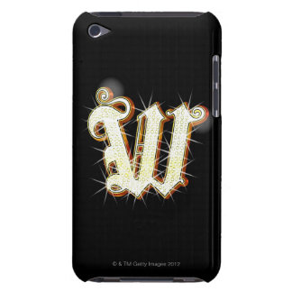 Bling alphabet W Barely There iPod Cover