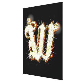Bling alphabet W Gallery Wrap Canvas