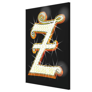Bling alphabet Z Gallery Wrapped Canvas