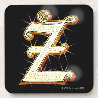 Bling alphabet Z Drink Coaster